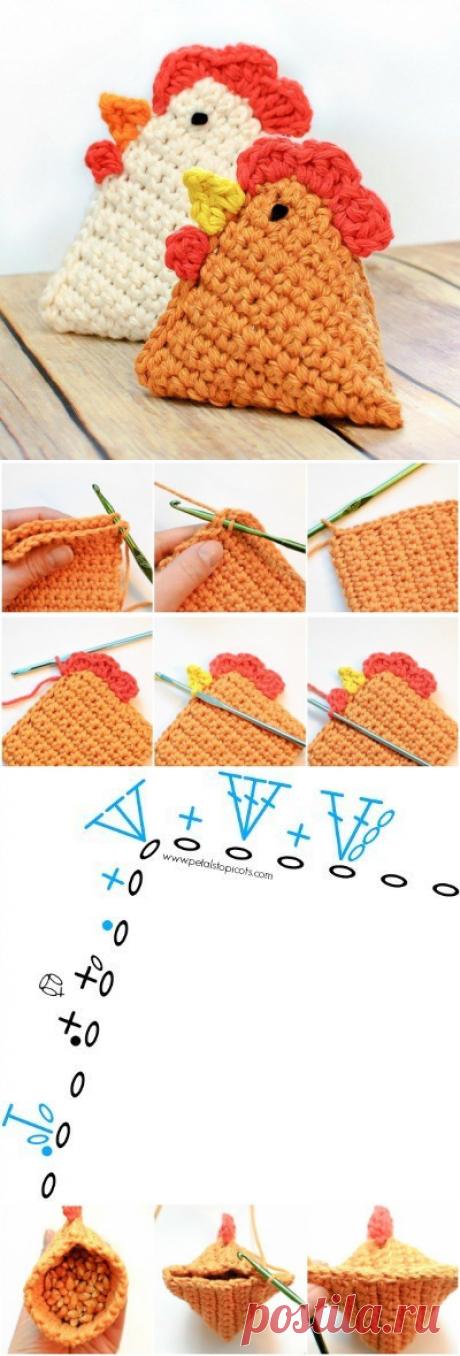 Вязание игрушек. Курочка / Вязание игрушек на спицах и крючком, схемы и описание / КлуКлу. Рукоделие - бисероплетение, квиллинг, вышивка крестом, вязание