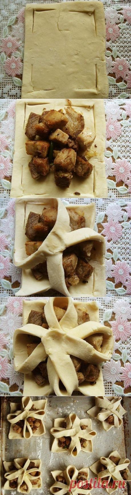 Как приготовить пирожки в слоеном тесте. - рецепт, ингридиенты и фотографии