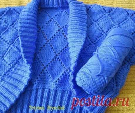 Ажурное болеро (Вязание спицами) | Журнал Вдохновение Рукодельницы