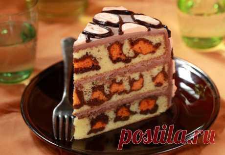 Леопардовый торт Вот это красота! Торт на удивление красив и легок в приготовлении! | Самые вкусные кулинарные рецепты