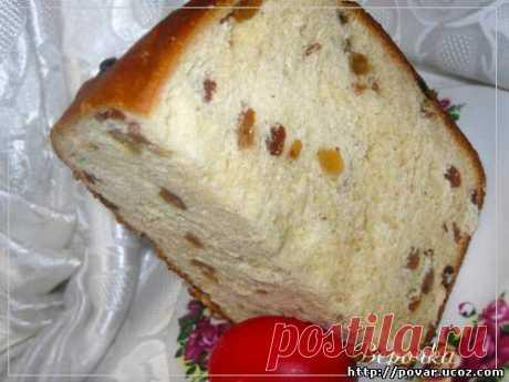 Кулич (1000 гр. в хлебопечке) - Готовим сами