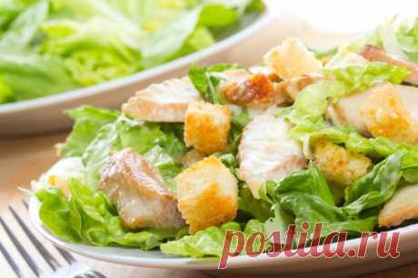 Хрустящий салат с ананасами и курицей — Sloosh – кулинарные рецепты