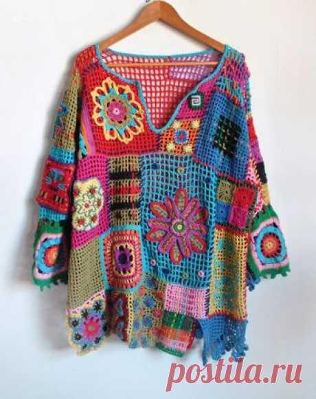 ElenaRegina wool: Maglia gipsy......... un mondo di colori..........