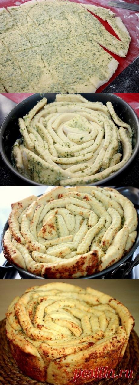Как приготовить обезьяний хлеб с чесноком  - рецепт, ингридиенты и фотографии