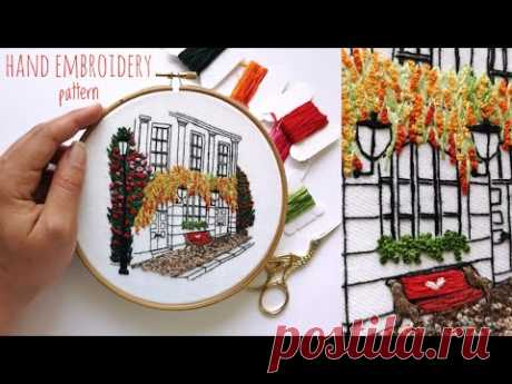 Summer Dream House Embroidery Pattern (beginner friendly)