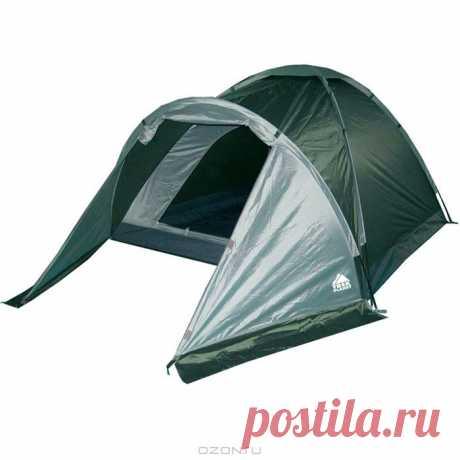 Летний туристический SALE! Трехместная палатка с удобствами и тамбуром по супер-цене от надежного туристического бренда! Купить за 1990 рублей