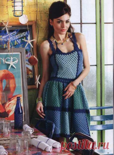 Вязаное платье Diy