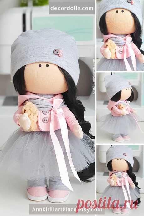 Custom Made Doll Gift Rag Doll Winter Doll Handmade Tilda | Etsy