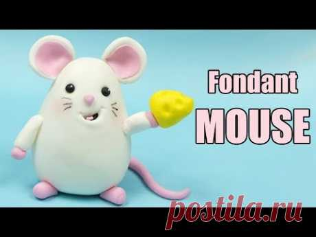 Maus Kuchen Topper Tutorial! Wie man Fondant Maus / einfach Fondant Kuchen schmücken