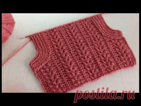 YELEKLERDE ARKA KOL KESİMİ NASIL YAPILIR /yelek modelleri ❤️ Knitting Patterns /Strickmuster