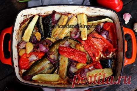 Літні овочі запечені з сиром | Picantecooking