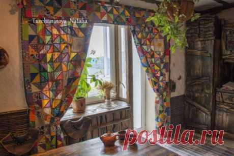 Шторы из лоскутков - оригинальный дизайн окон | ПЭЧВОРК-ИДЕИ | Пэчворк • Квилтинг • Лоскутное шитье | Пэчворк • идеи