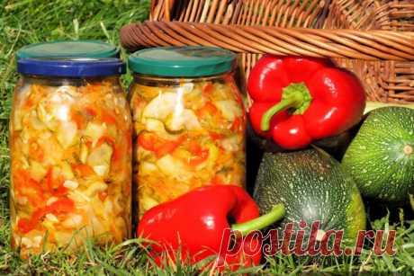 Салат из кабачков и перца на зиму