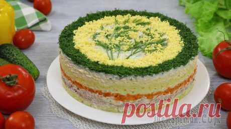 """Слоёный салат """"Мимоза"""" с сыром и тунцом. На праздничный стол! Хочу поделится с вами очень популярным праздничным рецептом слоёного салата """"Мимоза"""". Салат готовится из достаточно минимального, стандартного, можно сказать традиционного набора ингредиентов, таких к..."""