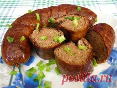 Домашняя печеночная колбаса | Просто и вкусно