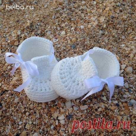 Вязаные сандали-пинетки | Beiba.ru - идеи для вязания | Яндекс Дзен