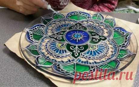 Роспись тарелок своими руками для начинающих