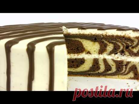 """""""Зебра&quot cake;. Simple recipe of beautiful and tasty pastries."""