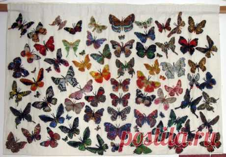 Стайка моих бисерных бабочек