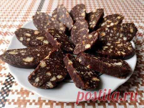 Шоколадная Колбаса из Печенья за 10 МИНУТ!|Chocolate Sausage - YouTube