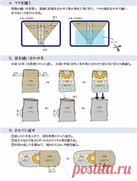Cómo hacer una bolsa de gimnasio con un asa que se pueda hacer fácilmente con una máquina de coser