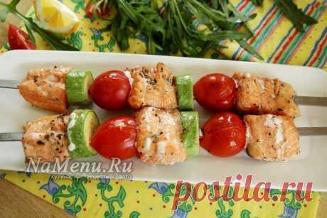 Шашлык из семги, рецепт на мангале: самый вкусный маринад