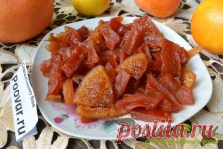Цукаты из тыквы, лимона и апельсина