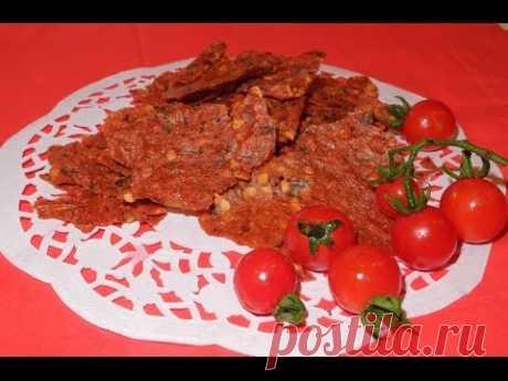 Сухая аджика (томатные чипсы). Как приготовить томатный соус. Видео. Смотреть.