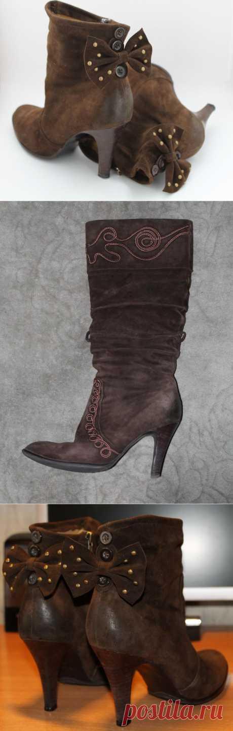 Ботинки со сменным декором DIY / Обувь / Модный сайт о стильной переделке одежды и интерьера