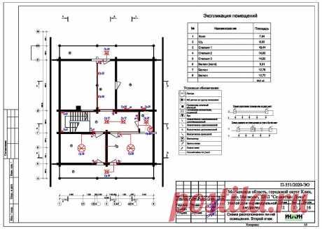 Проект электрики дома пример 534