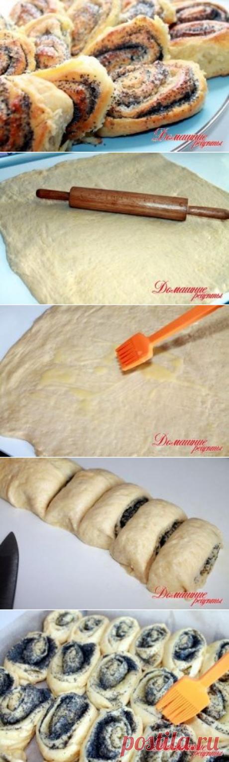 Булочки с маком » Домашние рецепты - советы - диеты и многое другое с пошаговыми фото на сайте - домашние рецепты