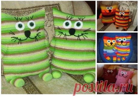 Забавные подушечки-коты