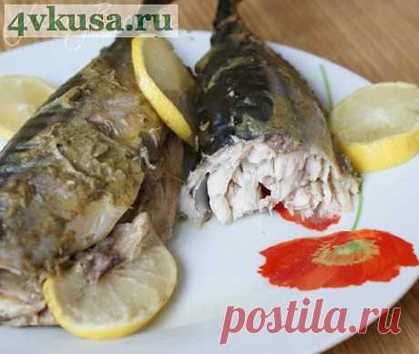 Скумбрия запеченная в горчице | 4vkusa.ru