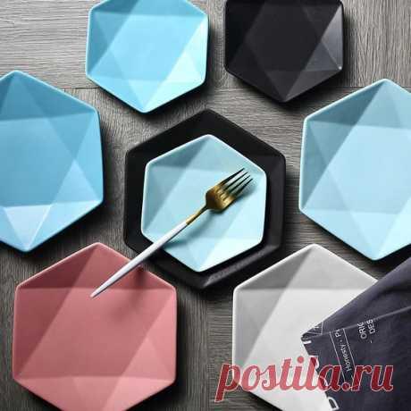 Плоские шестиугольные тарелки