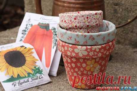 Как задекорировать цветочный горшок - Эксклюзивные идеи для мелочей разнообразных – своими руками творим прекрасное - Форум-Град