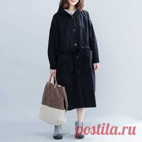 Plus Size Autumn Button Big Size Cardigan Female Oversized Black Outer - idetsnkf