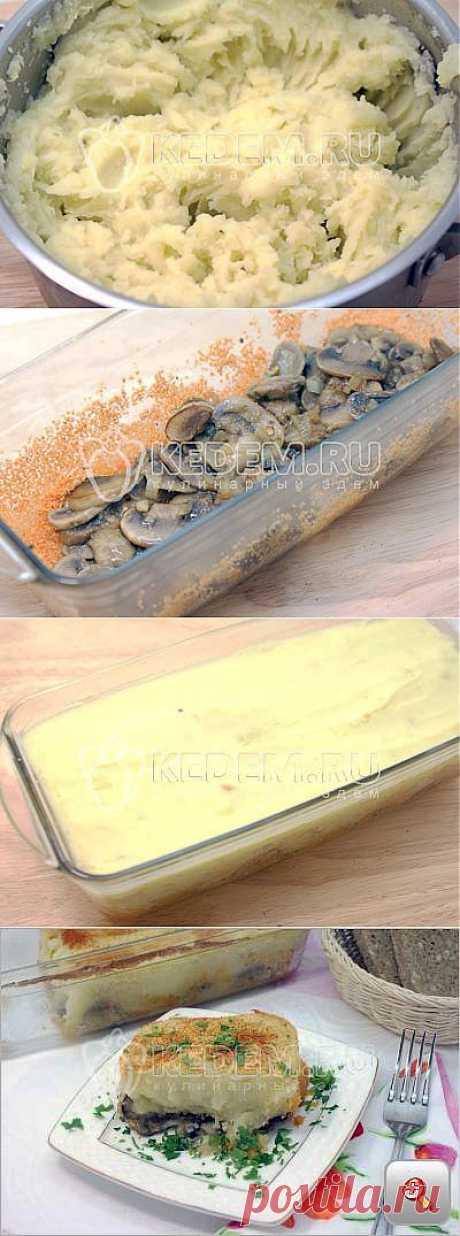 Картофельная запеканка с грибами - . Постные рецепты