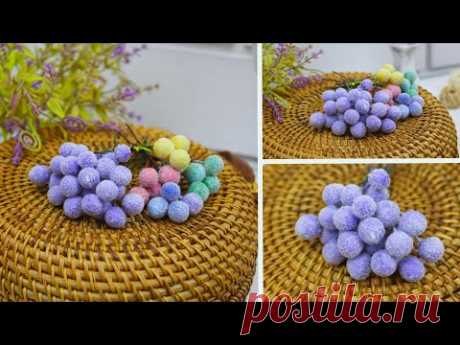 Декоративные бархатные ягодки с ворсом / Такие ягоды в продаже не видела – делаю их своими руками