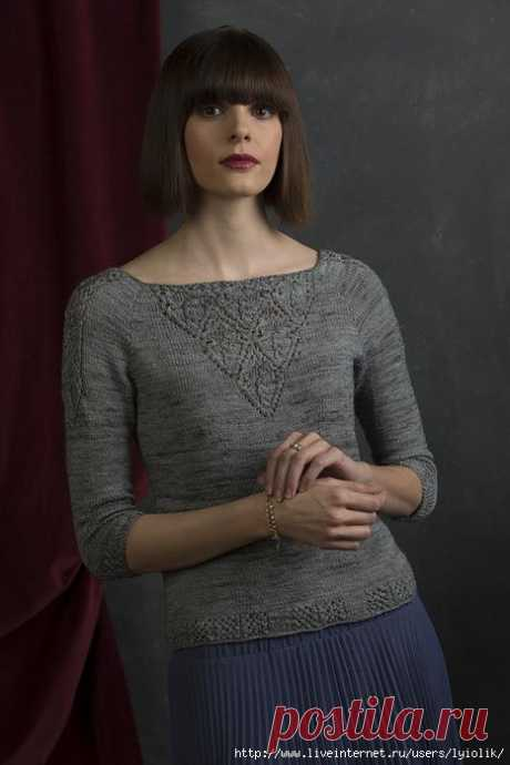 GRACEFUL PULLOVER WITH JAPANESE AZHURAMI VICTORIA