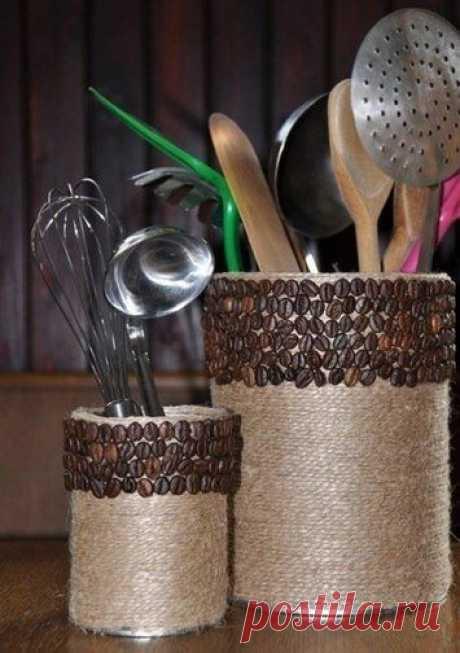 Декор баночек шпагатом