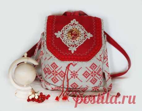 Рюкзак своими руками… из льна (мастер-класс) Красивые рюкзаки своими руками из натуральной льняной ткани. Как сшить такой рюкзак. мастер-класс.