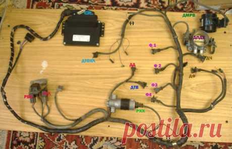 Установка ЗМЗ 406 взамен 402. Часть 2. Проводка — ГАЗ Газель, 2.5 л., 1997 года на DRIVE2 Отзыв владельца ГАЗ Газель — своими руками. Теперь что касается подключения косы управления двигателем.    подключал вот по такой схеме:  f-a.d-cd.net/9616228s-960.jpg всего надо подключить три провода — от замка зажигания — два силовых провода( постоянный и предохранитель)  остается 3 провода два провода( + и -) из колодки идут на чек в приб…