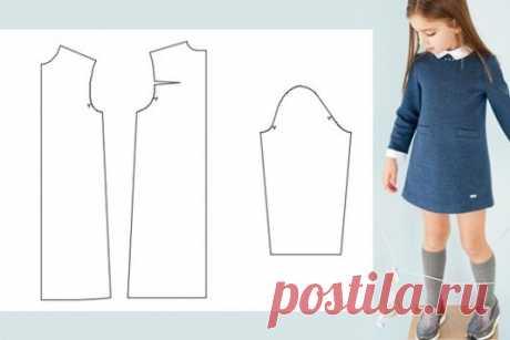Выкройка платья для девочки: скачать