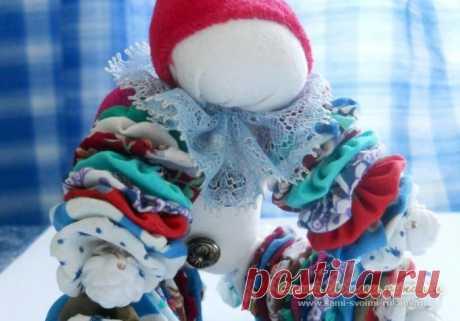 Клоун из лоскутков, как сделать своими руками - мастер класс, фото | Сами своими руками