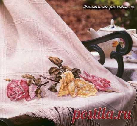 Розы. Схемы вышивки крестом - Handmade-Paradise