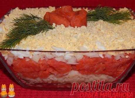 Вкуснейший салат с рыбой для праздничного стола!.