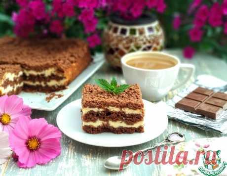 Творожный пирог с шоколадной крошкой – кулинарный рецепт
