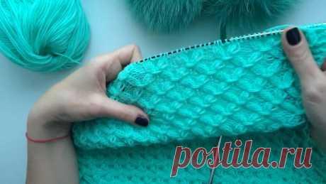 How to knit. Вязание спицами. Урок 19. Узор smock stitch.
