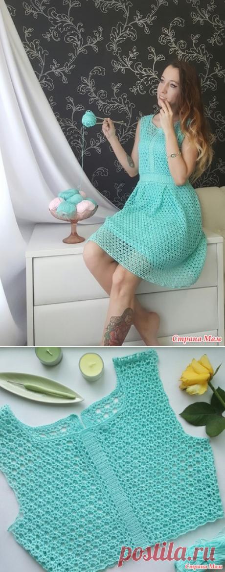 Платье Тиффани крючком от Маргарита Мигачева