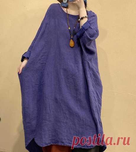Linen Large Size dress linen midi dress Oversized robe   Etsy